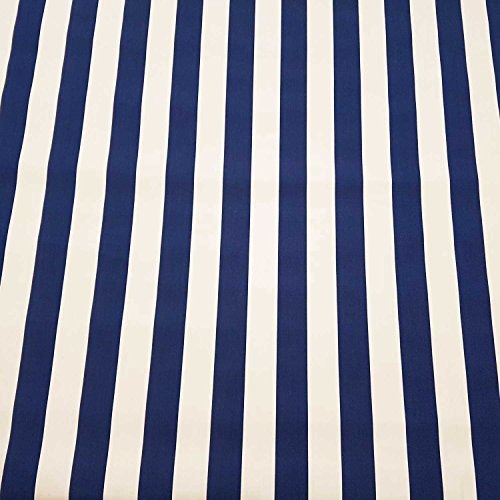 Fabric by the Metre Awning Fabric Block Stripes Blue White Striped UV Resistant Privacy Screen
