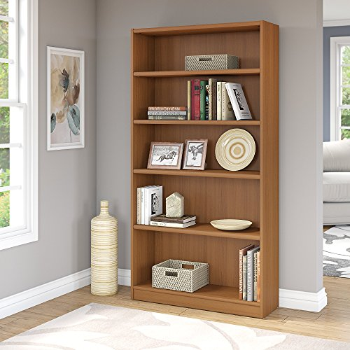 Bush Furniture Universal 5 Shelf Bookcase in Royal Oak