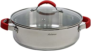 Relance Covered Low Stockpot, Black, 24 cm, Stainless Steel