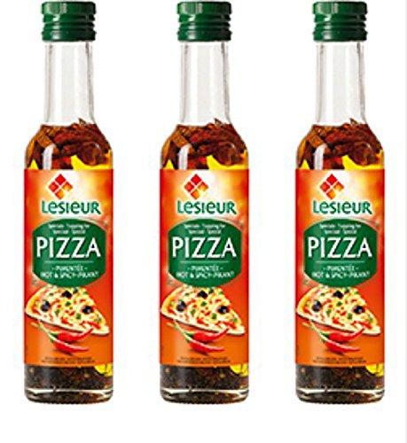 Bester der welt 3 x Lesieur Pizzaöl scharf & würzig – Huile Spéciale Pizza Pimentée 500ml Frankreich