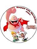 7,5Capitán Calzoncillos diseño 2decoración comestible para tarta de cumpleaños (