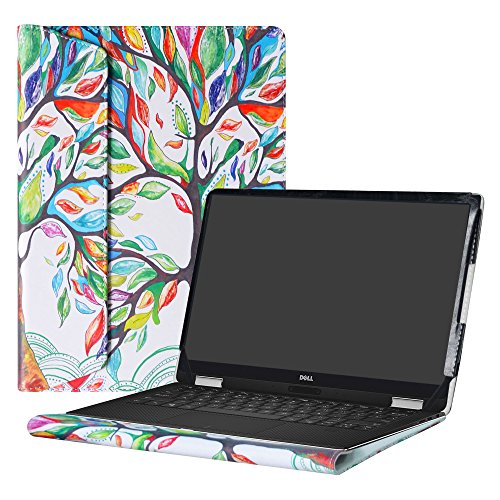 """Alapmk Protective Case Cover For 13.3"""" Dell XPS 13 9370 9360 9350 9343/XPS 13 2 in 1 9365 Laptop[Note:Not fit xps 13 7390 9380 9333 L321X/XPS 13 2 in 1 7390],Love Tree"""