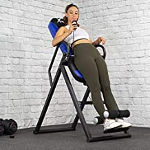 XtremepowerUS Premium Gravity Inversion Therapy Table Fitness Back Pain Relief w/Adjustable Heat Pad Backrest Controller