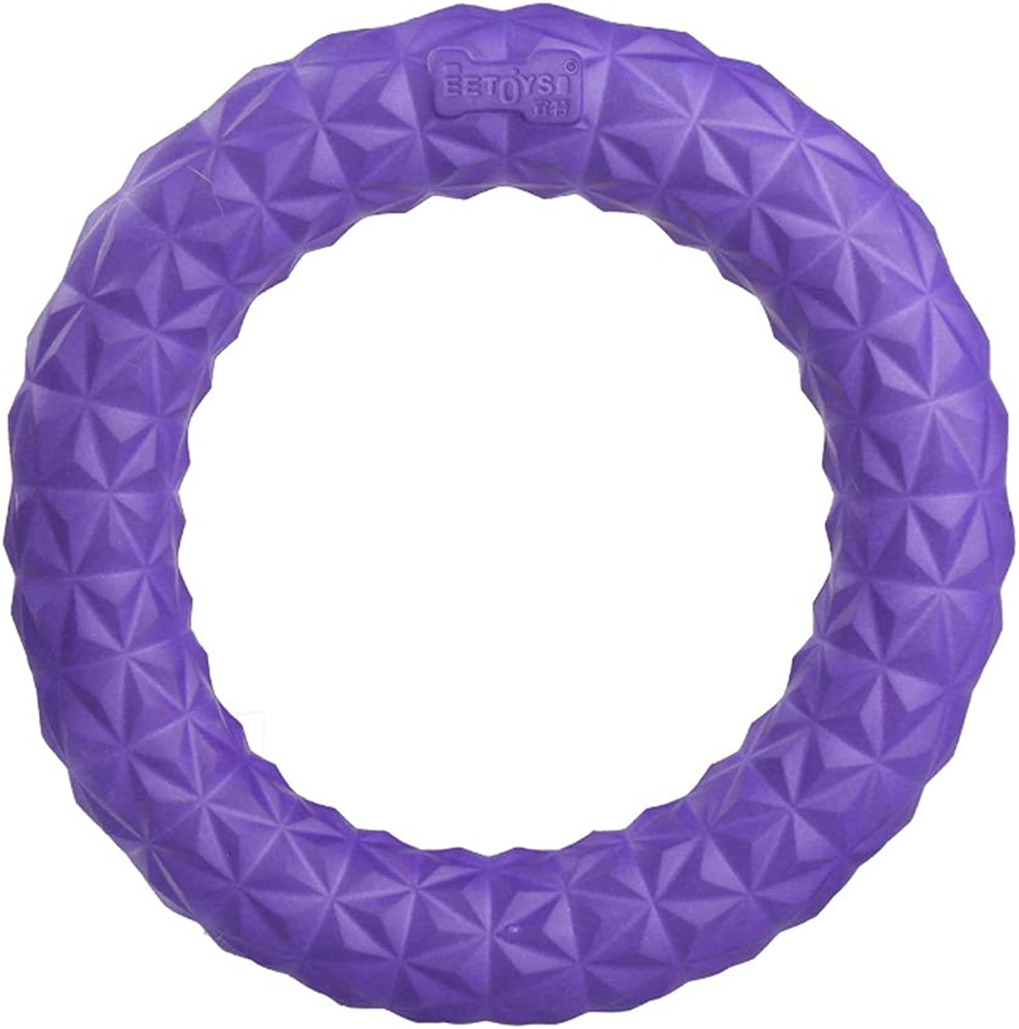 Pet Toys  TPR Ring Dog Toy Interactive Training Frisbee, Cleaning Teeth Pet Products (color   bluee, Size   L)