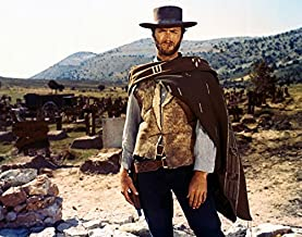 Risnay Clint Eastwood The Good, Bad and Ugly 16x20 Canvas Iconic Pose in Poncho Cigar