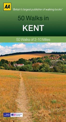 50 Walks in Kent (AA 50 Walks Series): 50 Walks of 2-10 Miles
