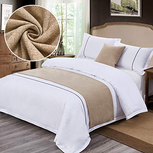 YYSWIM Sänglöpare scarf säng flagga europeisk stjärna hotell, bröllopsrum sängflagga, sänghandduk, bred tygdekoration på sängen, flickors lyx & balett @ 1,5 m säng 50 x 210 cm