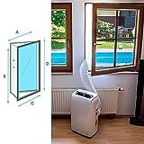 Joint de fenetre climatiseur Fenêtre AirLock Joint Plaque Airlock fenêtre d'étanchéité for mobiles Climatiseurs et d'échappement Unités Sécheurs d'air conditionné G Universel