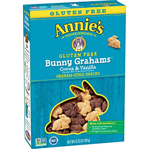 Annie's Cocoa and Vanilla Bunny Cookies, Gluten Free, 7 ct, 6.75 oz (Pack of 7)