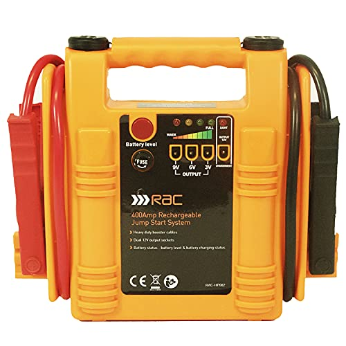 RAC 400 Amp Rechargeable Jump Start System HP082 - For Car Batteries up to...