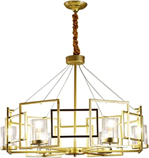SMGHF postmodern Living Room Chandelier Nordic Light Luxury Simple Creative Restaurant Personality Hong Kong Style Model Room Bedroom Wrought Iron Chandelier,E14