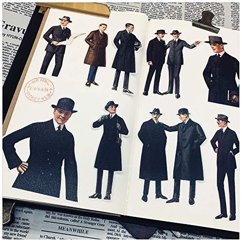 19Pcs Vintage Men Gentleman Stickers Children DIY Scrapbooking Album Journal Crafts Decorative Stickers Package DIY Photo Albums