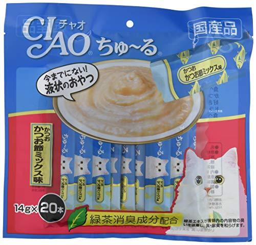 チャオ (CIAO) 猫用おやつ ちゅ~る かつお かつお節ミックス味 14g×20本入