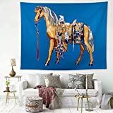 N/ A Famous Painting Tapestry Van Gogh Starry Sky Background Wall Printing Home Tapestry Wall Hanging Cloth Home Decoration (Plus Velvet 150 * 130CM)