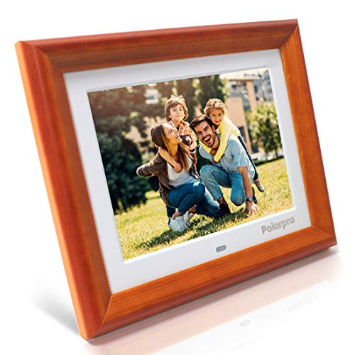 8 Inch Digital Picture Frames,Electronic Picture Frame Wooden Dressed HD 800x600 4:3 LCD Widescreen,720P/1080P Video Picture Display,Photo Auto Rotate,Calendar,Clock,Timer On/Off,Remote Control-White Materials Presentation Storage