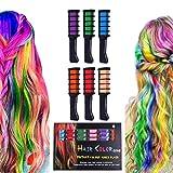 Haarkreide, Halloween Geburtstag Weihnachten Cosplay und DIY, 6 Farben Temporäre waschbare...