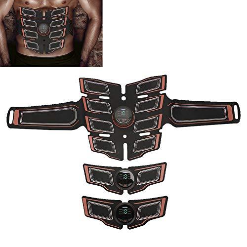 Electroestimulador Muscular,EMS Parche muscular abdominal Cinturón Brazo Pierna Estimulador de entrenamiento muscular Equipo de ejercicios para hombres Mujeres Pierna del vientre(naranja)