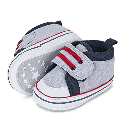 Sterntaler Unisex dziecięce buty niemowlęce First Walker, szary - srebrny melanż - 21 EU
