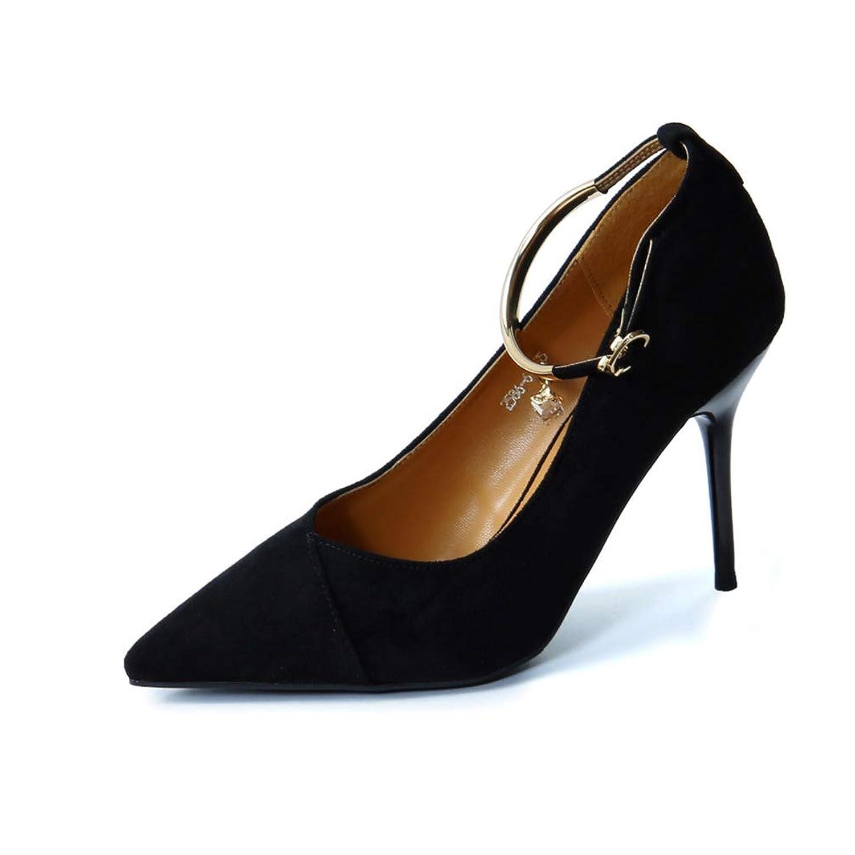 ハイヒール パンプス シューズ レディース 美脚 エレガント ポインテッドトゥ パンプス レディース セクシー ストラップ サンダル パーティー 結婚式 靴 くつ ハイヒール 9cm スエード ラインストーン キラキラ