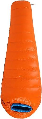 Shiduoli Sac de Couchage de Camping Confort pour Adultes par Temps Chaud, avec Sac de Compression (Couleur   Orange, Taille   1200g)