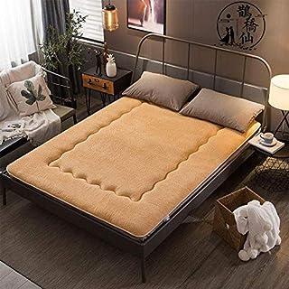 XRDSHY Colchón Tatami Colchón De Futón Japonés Grueso Colchoneta Plegable para Dormir Estudiantes Dormitorio Colchón,Camel-180 * 200cm