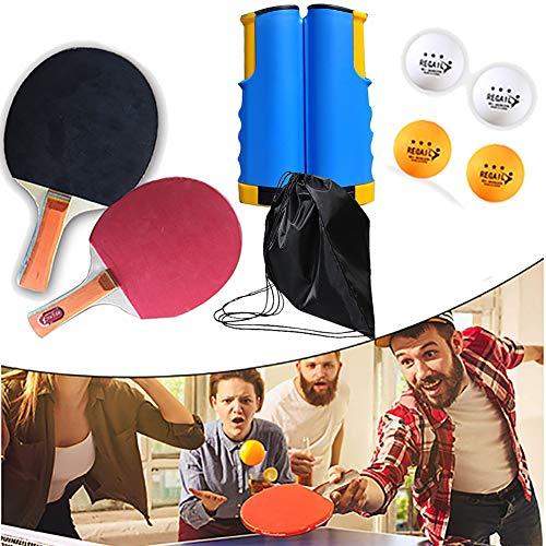 BCQ Tischtennisschläger Set, Professioneller Tischtennis-schläger, Tischtennis 2 Spieler Set (2 Tischtennisschläger und 4 Tischtennisbälle), für Anfänger und Profis