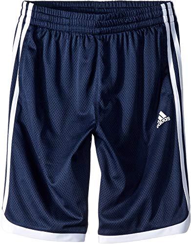 adidas Kids Iconic Mesh Shorts para niños (niños grandes) - Azul marino - 8 años