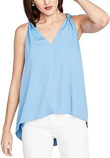 Womens Knot Shoulder Knit Blouse