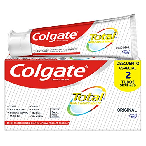 Colgate Total Original, Pasta de Dientes, Duplo 2 Unidades x 75ml