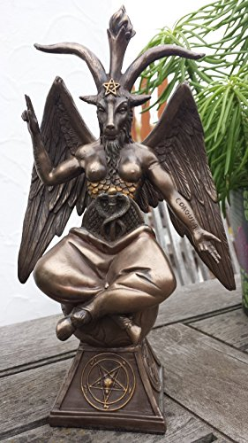 Baphomet Teufel Satan Figur bronziert
