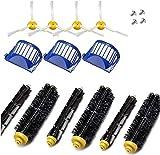Kit de accesorios de repuesto fiable para aspiradora IRobot Roomba Serie 600 690 680 660 651 650 y 500 Series (color: kit de 6 piezas) (color: chocolate).