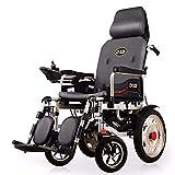TYT Silla de ruedas eléctrica para personas mayores con discapacidad Scooter ligero plegable para personas mayores tipo todoterreno,Plomo ácido 12ah completamente mentiroso