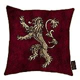 Game Of Thrones Juego de Tronos - Cojín con escudo de armas de una de las casas (a elegir) (Tamaño Único) (Lannister)