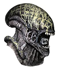 Deluxe alien latex mask Designed for use by adults and teens Officially licensed aliens vs. Predator costume accessory, only items shipped and sold by amazon can be guaranteed authentic Combine with aliens vs. Predator costume for the complete look Y...