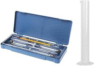 SHINAN Testeur d'hydromètre vintage - Bouteille de mesure en plastique - Outils d'alcoolmètre - Compteur de concentration ...