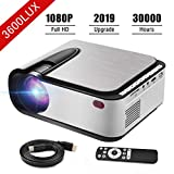 Video Projector Seeback 1080P Full HD LED Projector 3600 Lumens 30,000 Hrs...