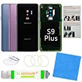 Galaxy S9+ Plus Back Cover Glass Replacement with Pre-Installed Camera Lens + All The Adhesive + Installation Manual + Repair Tool Kit for Samsung Galaxy S9 Plus SM-G965 All Carriers (Midnight Black)