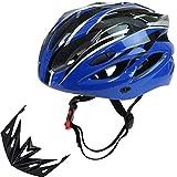 YUYATO サイクリング ヘルメット 自転車 通勤 通学 スポーツ 通気性 超軽量 男女兼用 サイズ調整可能 アジャスター付 (ブルー)