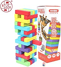RAFGL Mitoys 60 Pcs Colorful Wooden Blocks Tower Blocks Toy Domino Stacker Board Game Family/Party Funny Extract Building Blocks Baby Boy Must Haves Birthday Gifts Favourite Movie