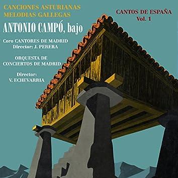 Cantos de España Vol. 1 Canciones Asturianas - Melodías Gallegas