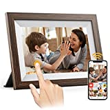 FRAMEO 10.1 inch WiFi Digital Picture Frame, ARZOPA Smart Digital Photo Frame Touchscreen Electronic Picture Frame with App,16GB Storage,Auto-Rotate,Photo Share Anywhere,Gift for Friends and Family