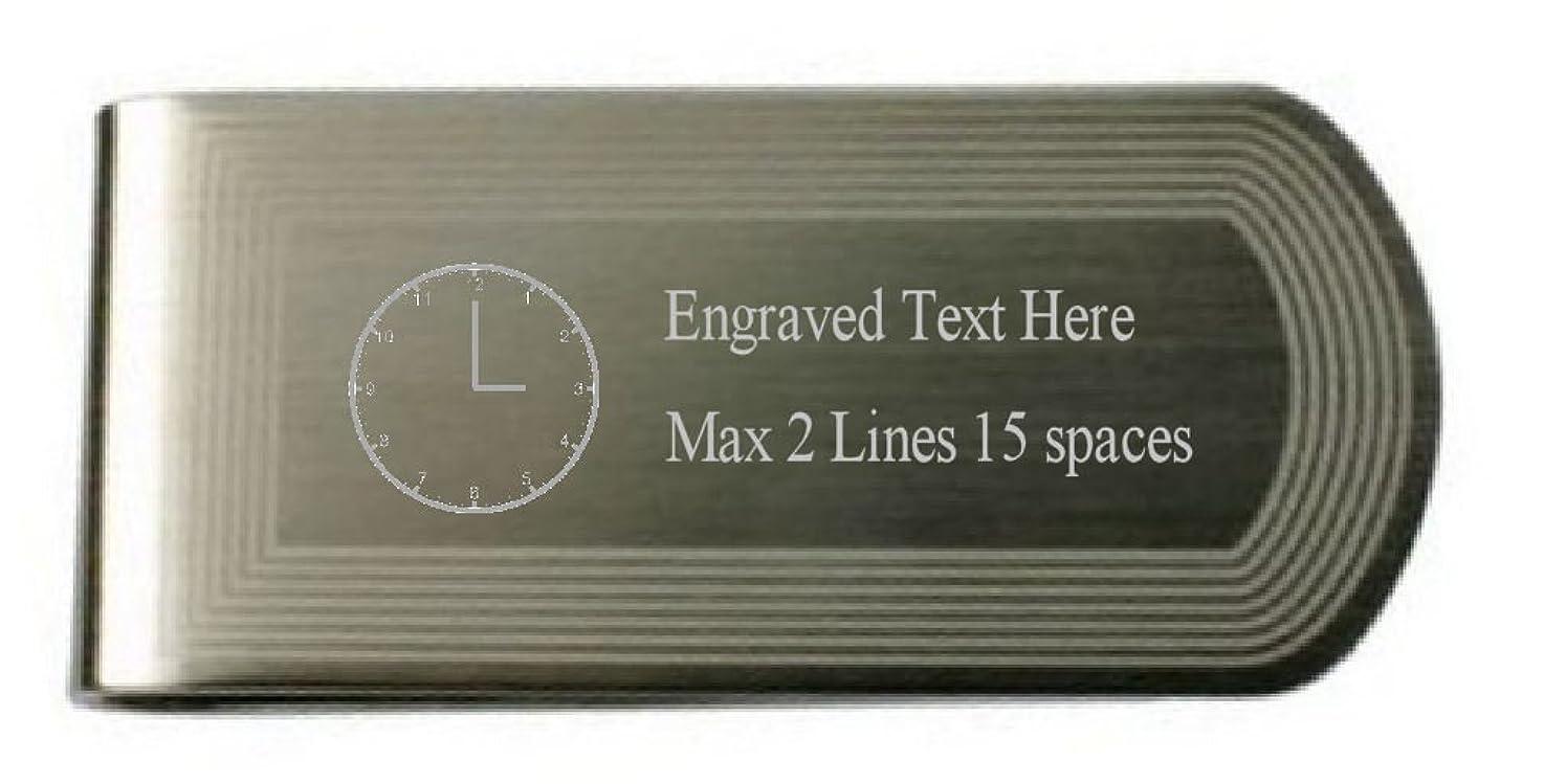 階下またはどちらか下に向けます個人用時計 時間マネークリップ メッセージボックスの刻印