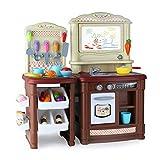 SXPC Kinder, die Küche vortäuschen, Simulationsküchengeschirr zu Kochen, stellten pädagogisches Spielwarengeschenk EIN,Brown