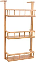 Kitchen Storage Rack, Spice Stove Wall Mount Refrigerator Side Wall Mount Adjustable Multifunctional Wooden for Kitchen, H...