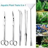 LONDAFISH Ensemble d'outils pour Plantes en Acier Inoxydable pour Aquarium Aquarium Aquascaping...