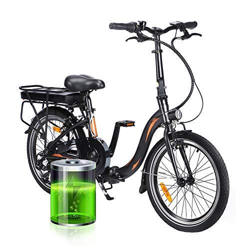 250W Bicicleta Eléctrica Plegables, Bici Electricas Adulto con Ruedas de 20