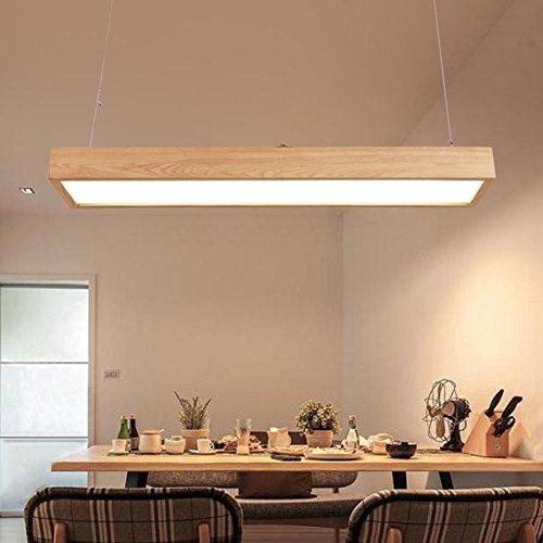 XY-QXZB SXYRN Lampade A Sospensione A Sospensione A Mano in Legno Naturale Hight Lampada A Pendolo con LED Minimalismo Regolabile per Ristorante Chandelier 48W