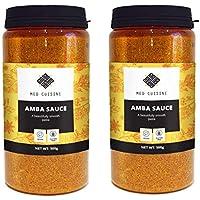 Med Cuisine Salsa Amba - Condimento de Escabeche de Mango Picante - Med Cuisine Amba Salsa De Mango - Condimento Israelí - Vegano Y Sin OGM (2 Pack)