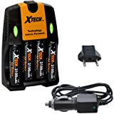 Best Xit Rechargeable Batteries - Xtech 4 AA Ultra High Capacity 3100mah Rechargeable Review