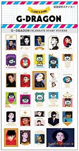 G-DRAGON (BIGBANG ビッグバン) 記念 切手 シール ステッカー (Celebrate Stamp Sticker) [29ピース] グッズ